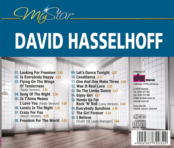 David Hasselhoff - My Star - Da Records CD Grooves Inc