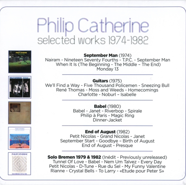 Philip Catherine - Selected Works 1974-1982 - Wmi CD Grooves