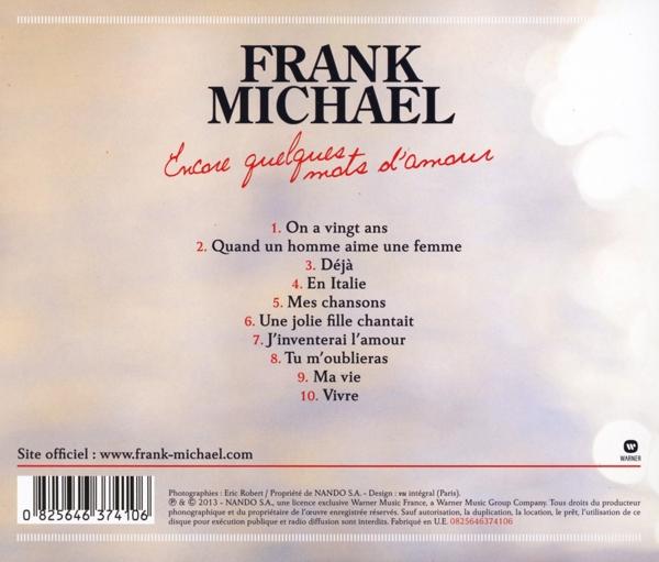 Frank Michael Encore Quelques Mots Damour Wmi Cd Grooves