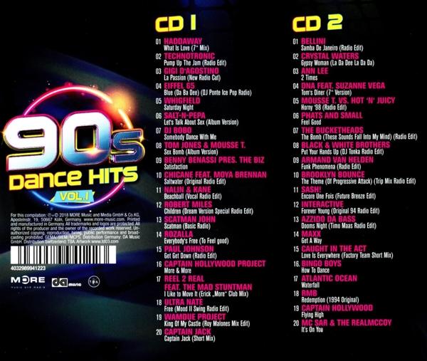 Various - 90s Dance Hits Vol 1 - Quadrophon CD Grooves Inc