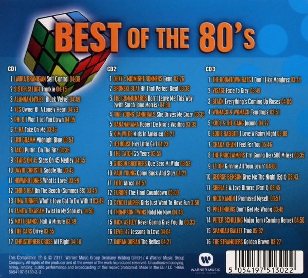 Various - Best Of The 80s - Warner Music International CD