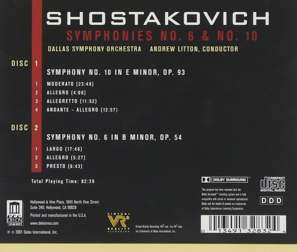 Andrew Litton / Dallas Symphony Orchestra - Shostakovich:Sinfonien 6