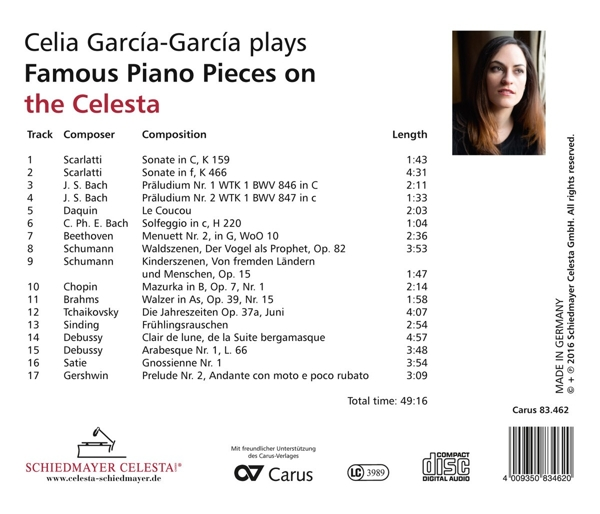 Celia García-García - Famous Piano Pieces on the Celesta