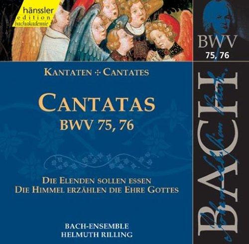 Bach-Collegium/ Rilling - Kantaten BWV 75+76 CD Hänssler Classic NEW