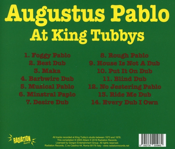 Augustus Pablo - At King Tubbys - Radiation Roots CD Grooves