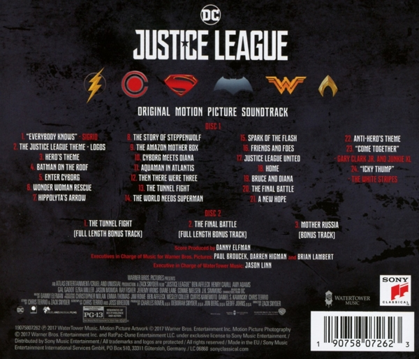 Danny Elfman - Justice League/OST - Sony Classical CD