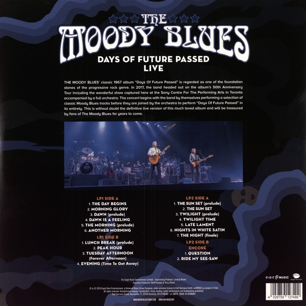 The Moody Blues - Days Of Future Passed Live - earMUSIC LP Grooves Inc