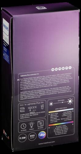 philips hue lightstripe plus erweiterung 1m philips hardware electronic grooves inc. Black Bedroom Furniture Sets. Home Design Ideas
