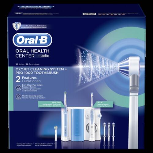 braun oral b center oxyjet munddusche pro 1000 braun. Black Bedroom Furniture Sets. Home Design Ideas