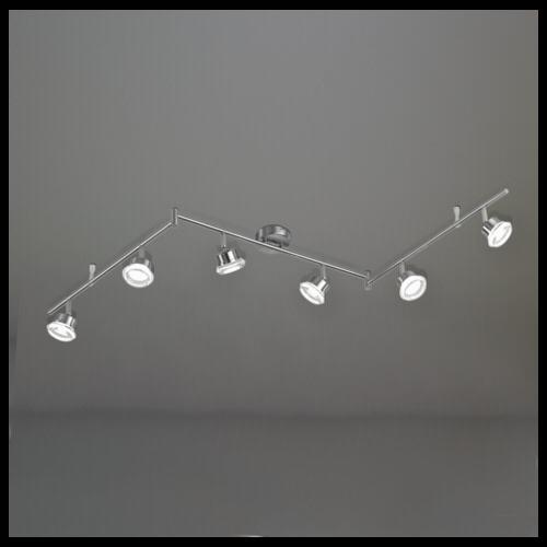 wofi leuchten wofi led balkenspot morgan 6flg 5w festverbaut 400lm wofi leuchten hardware. Black Bedroom Furniture Sets. Home Design Ideas