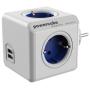 """Allocacoc""""PowerCube Original USB blau Type F für Extended Cubes"""""""