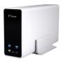 "Fantec""FANTEC mobiRAID X2 silber 2x2,5 SATA RAID0/1/JBOD USB3."""