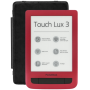 """Pocketbook""""Pocketbook Touch Lux 3 ruby red, E-Book Reader"""""""