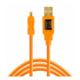 "Tether Tools ""TetherPro USB 2.0 A to Mini-B 8 pin 15 ORG"""