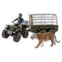 """Schleich""""Wild Life 42351 Quad mit Anhänger und Ranger"""""""