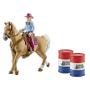 """Schleich""""Farm World 41417 Barrel racing mit Cowgirl"""""""