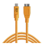 "Tether Tools ""USB-C zu 3.0 Micro- B 4,60m orange"""