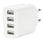 """Ednet""""Netzteil ZUB EDNET Charger 4x USB-Bu.+ 1x C5-Bu. > C5-St. [wh]"""""""
