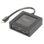 """Digitus""""MiniDisplayPort auf DisplayPort Splitter 4K 1x2, Splitter & Switches"""""""