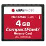 "Agfaphoto""Compact Flash 4GB High Speed 120x MLC"""
