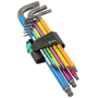 "Wera""950 SPKL/9 SM N Multicolour Winkelschlüsselsa metrisch, BlackLaser, 9-teilig, Hex-Plus Winkelschlüssel, 05073593001 (0"""