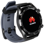 """Huawei""""Watch GT Sport - 46,5 mm - schwarzes Edelstahl - intelligente Uhr mit Riemen - Silikon - Graphitschwarz - Bandgröße 1"""""""