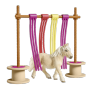 "Schleich""Farm World 42484 Pony Flattervorhang"""