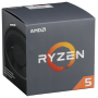 "Amd ""AMD AM4 Ryzen 5 6 Box 2600 3,90 GHz 6xCore 19MB 65W with Wraith Stealth cooler"""