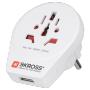 """Skross""""SKROSS World to Europe USB - Netzteiladapter mit USB-Ladegerät - CEE 7/7 (W) bis BS 1363, NEMA 5-15, SAA AS 3112, SEV 1011,"""""""