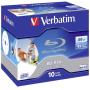"Verbatim""1x10 Verbatim BD-R Blu-Ray 50GB 6x Speed printable Jewel Case [DE-Version, Regio 2/B]"""