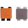 "Bluelounge""CableClip Medium, Dark Grey & Orange"""