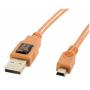 """Tether Tools""""Tetherpro Usb 2.0 A/minib 5 Pin 4,6m Orange [accessories] Tether Tools"""""""