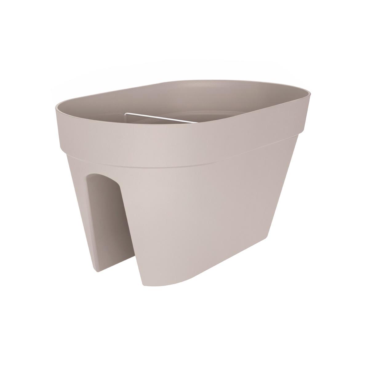 elho loft urban flowerbridge 50x29x26 cm warmes grau d s. Black Bedroom Furniture Sets. Home Design Ideas