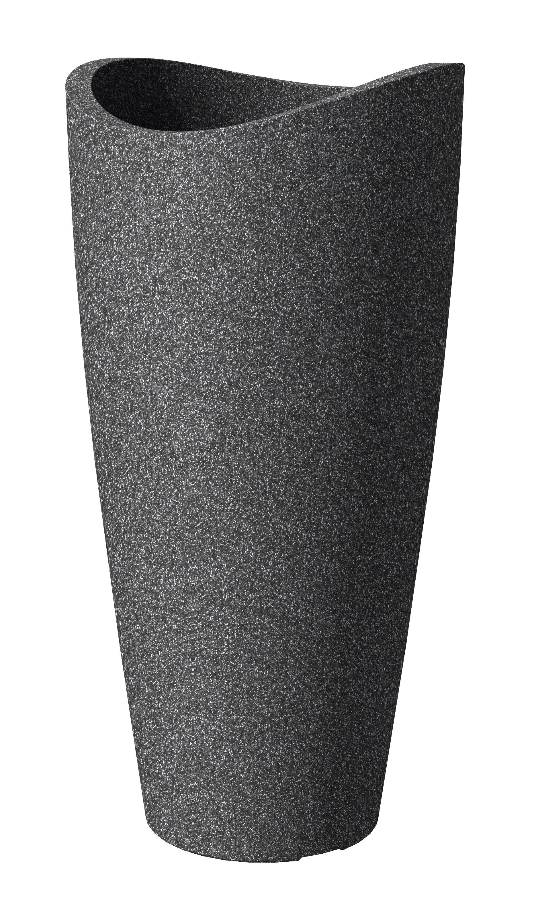 """Scheurich""""Wave Globe Slim 39,5x39,5x80 cm schwarz granit D/S.48"""""""