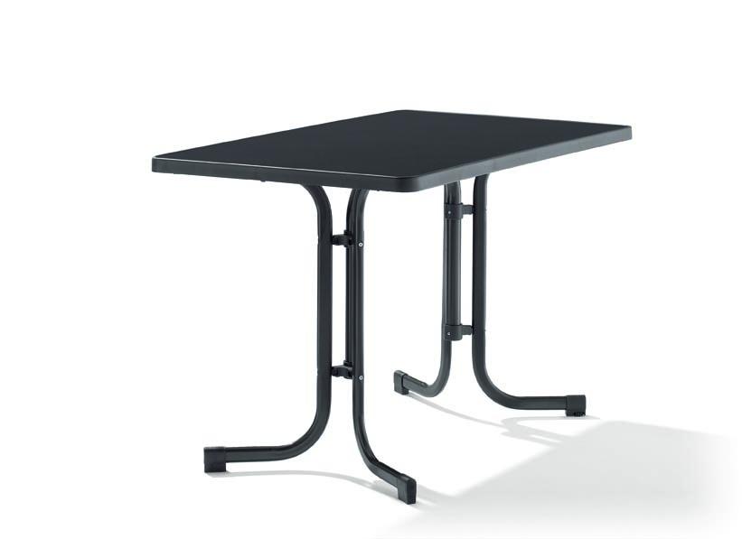sieger klapptisch 115x70cm eisengrau 233 g mecalit pro platte sieger grooves inc. Black Bedroom Furniture Sets. Home Design Ideas