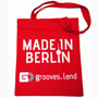 """Grooves.land Merchandise""""cotton bag with long handles/Jute Beutel """"Made In Berlin"""""""""""