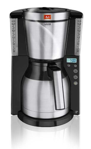 Melitta - 1011-16 Look Therm Timer Filterkaffeemaschine Schwarz/Edelstahl - Melitta Hardware ...