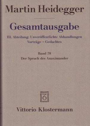 Der-Spruch-des-Anaximander-Leinen-Martin-Heidegger-Buch-NEU