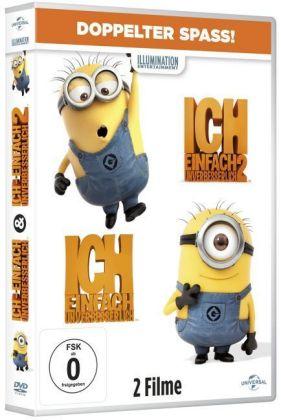 Ich-Einfach-unverbesserlich-1-2-2-DVDs-185-Min-Jason-Steve-Carell-NEU